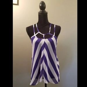 Charlotte Russe Striped Strappy Tank Top